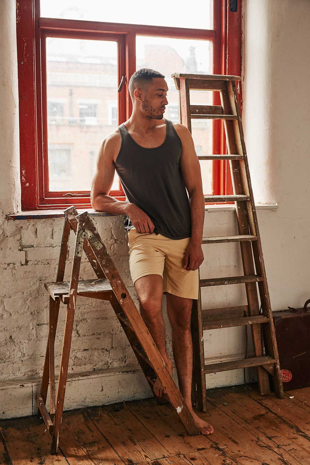 Organic Cotton Jersey Vests by So We Flow, Men's yoga & movement clothing