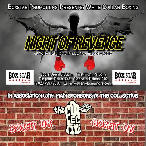 Boxing Night Of Revenge - Nov 03 @York Hall - Get Your Tickets