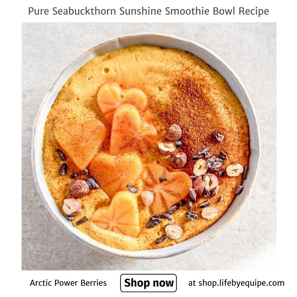pure seabuckthorn sunshine smoothie bowl recipe by arctic power berries