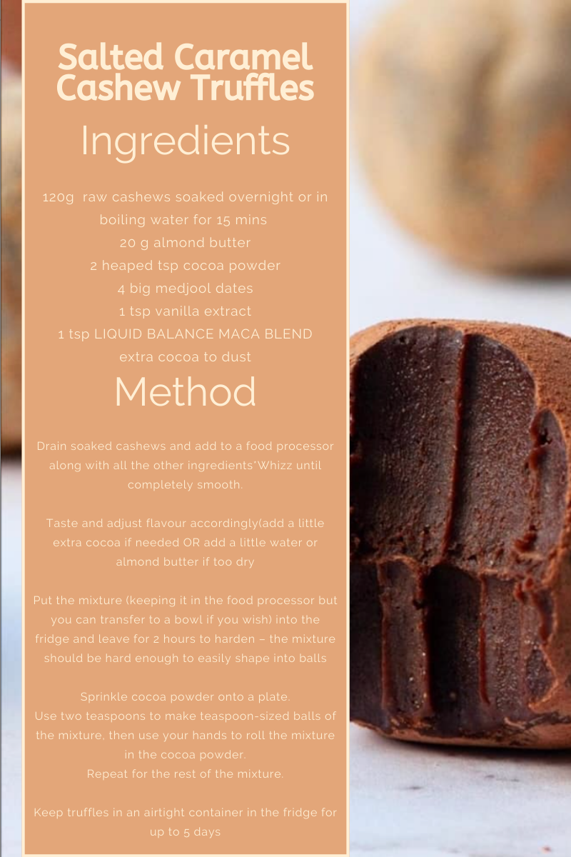 Salted Caramel Cashew Truffles Recipe by MAWish Food