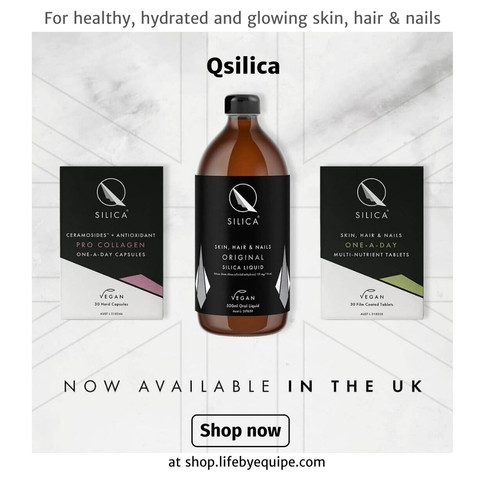 Qsilica Vegan Beauty Supplements For Healthy And Hydrated Skin, Hair & Nails