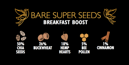 Bare Super Seeds Breakfast Boost - Two Birds Cereals