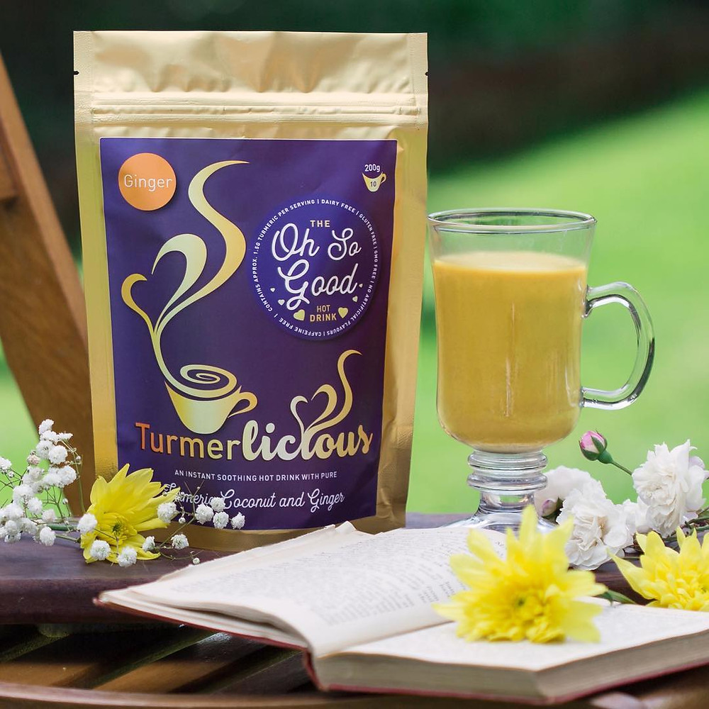 Turmerlicious Instant, soothing turmeric lattes made from a delicate blend of coconut milk, turmeric, ginger, cinnamon, a hint of black pepper & spices - just add hot water!