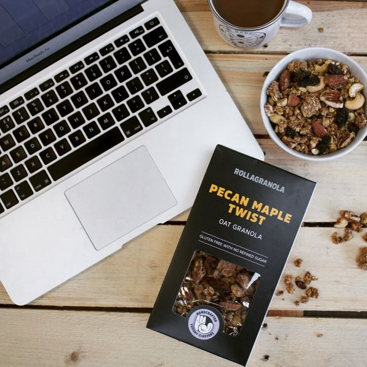 Rollagranola's Gluten-free, Paleo, Cereal-free, Vegan & No Added Sugar range with all natural ingredients
