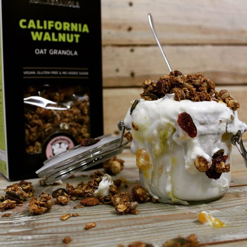 Rollagranola's Gluten-free, Paleo, Cereal-free, Vegan & No Added Sugar range with all natura