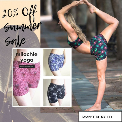 Celebrate the Summer Equinox with 20% Off Shorts by Milochie