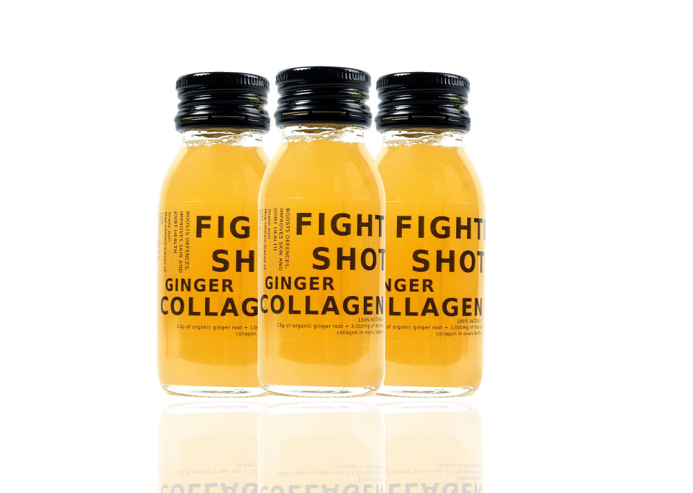 100% Natural Cold Pressed Ginger and Marine Collagen 3,000mg Health Shots