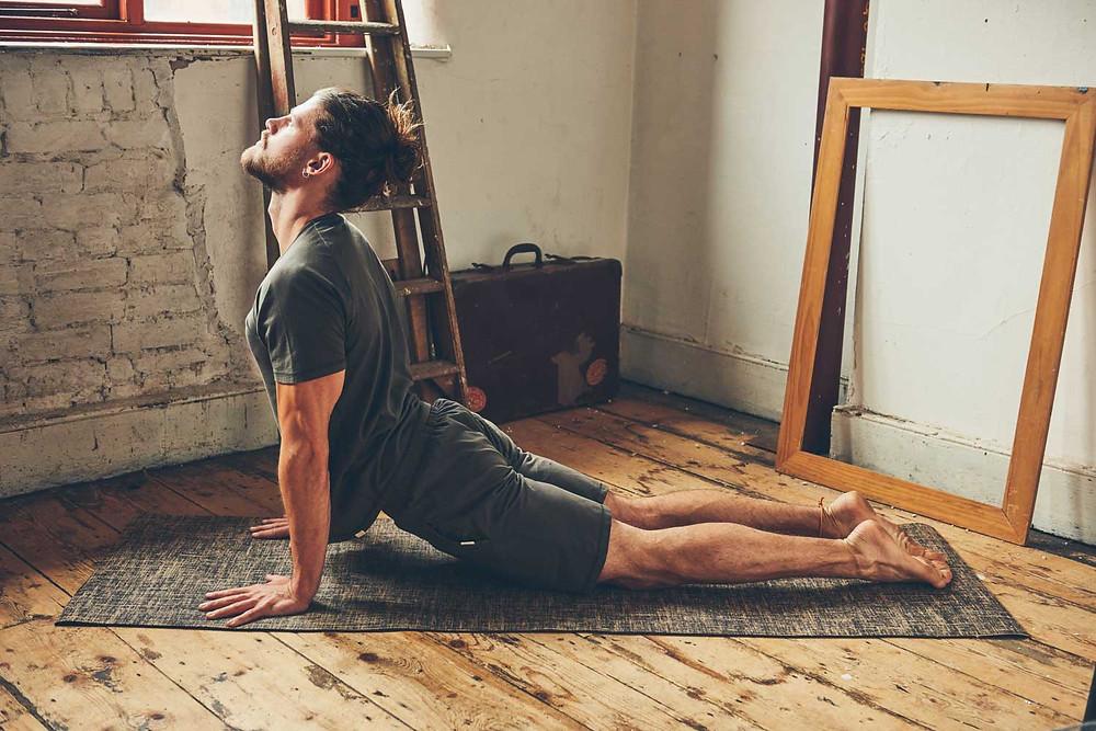 Jute yoga Mat by So We Flow, men's yoga & movement clothing company