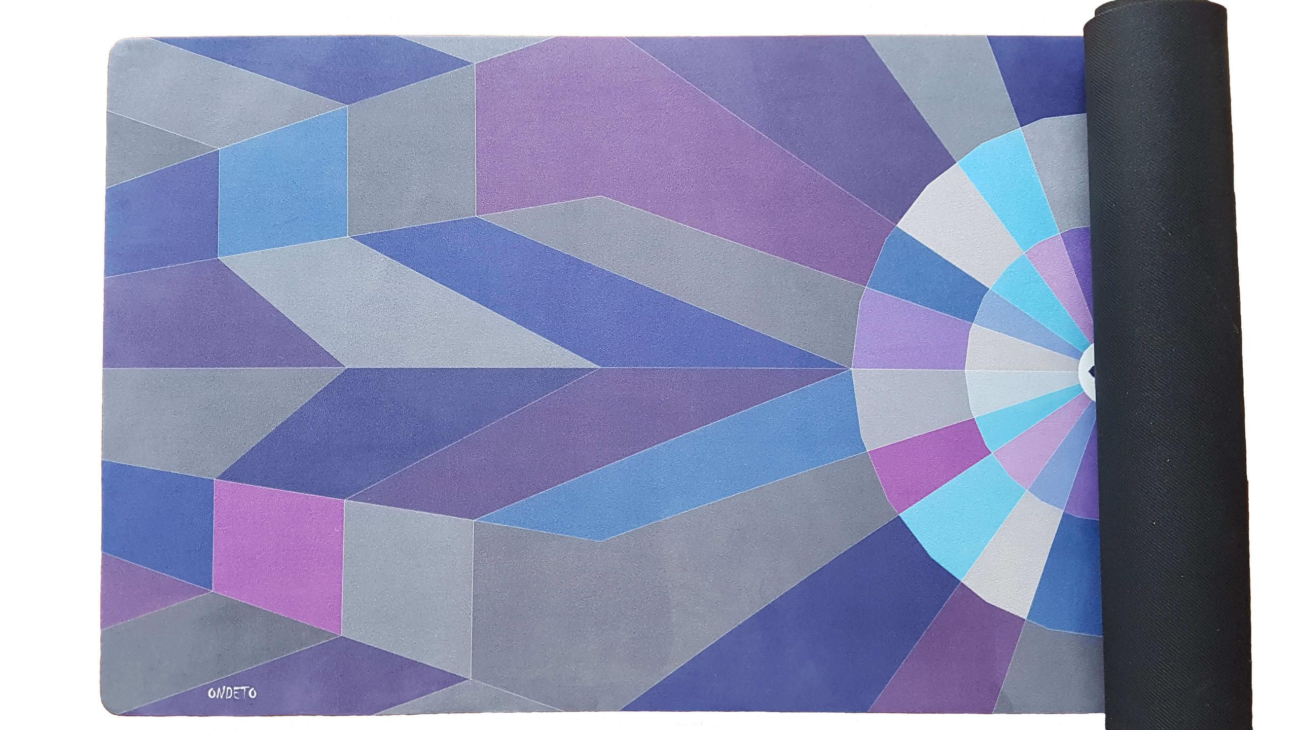 Abstract Alignment Yoga Mat