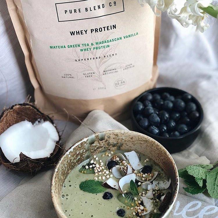 Pure Blend Co Matcha Green Tea Protein Blend