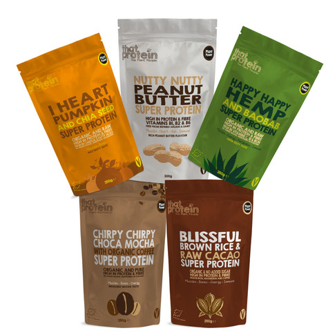 Delicious Vegan Super Proteins made with Organic Baobab, Chia & Raw Cacao by That Protein