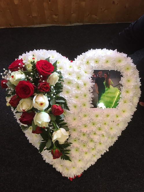 Massed Heart Tribute with picture