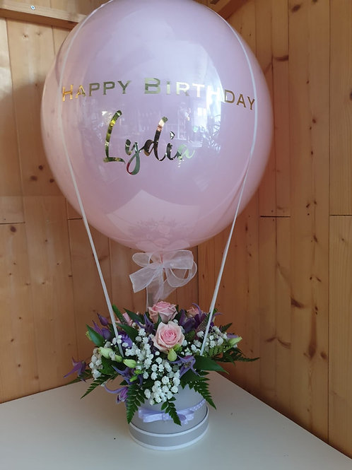 Personalised Small Balloon & Hat Box