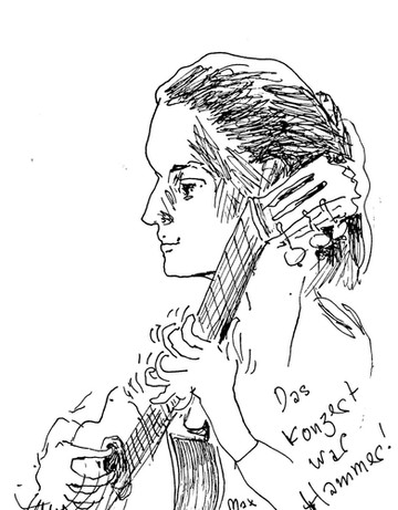 Portrait during a concert by Max Spring