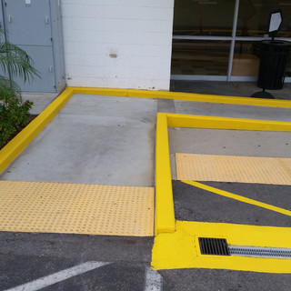 Painting Safety Yellow