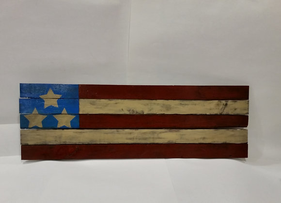 4th of July Rustic American Flag Reclaimed Wood