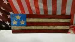4th of July Rustic American Flag Rec