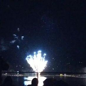 Fireworks over Lake Gregory