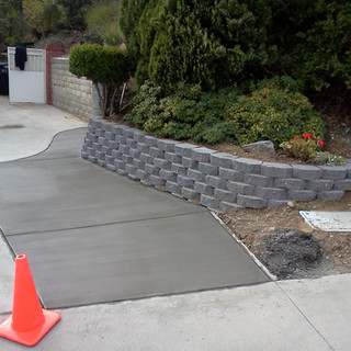 Concrete And retaining Wall Walnut
