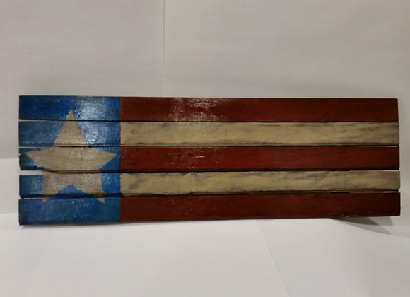 4th of July Rustic Wood American Flag