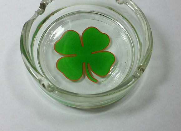 Vintage lucky irish Ashtray glass Lucky 4 Leaf Clover item# A02 half price