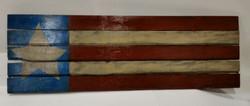 4th of July Rustic Wood American Fla