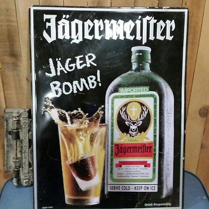 Jagermeister Jäger Bomb tin Tacker sign - 18x24