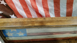 4th of July Framed Rustic Wood Ameri