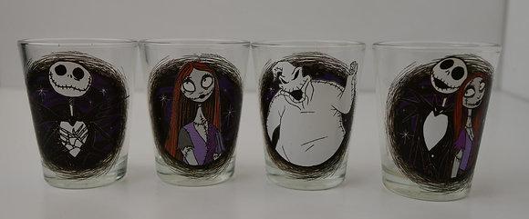 Disney Tim Burton's The Nightmare Before Christmas Shot Glass Set Of 4 New