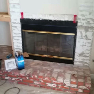 A little fireplace clean up _#handyman #contractor #repairs #chino #fireplaceremodel #remodeling #remodel #fireplace #smallbusinesss #smallb