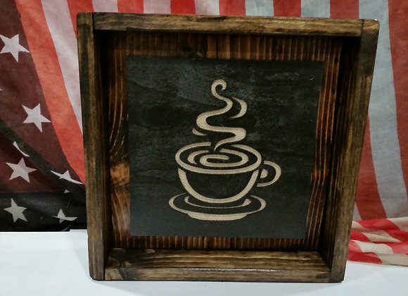 Hand  Made Rustic Reclaimed wood Coffee sign