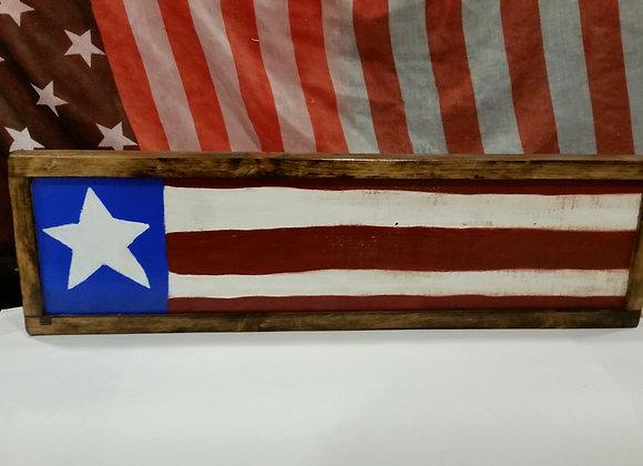 Rustic Primitive wood American flag