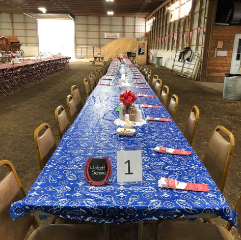 Example of a western theme wedding