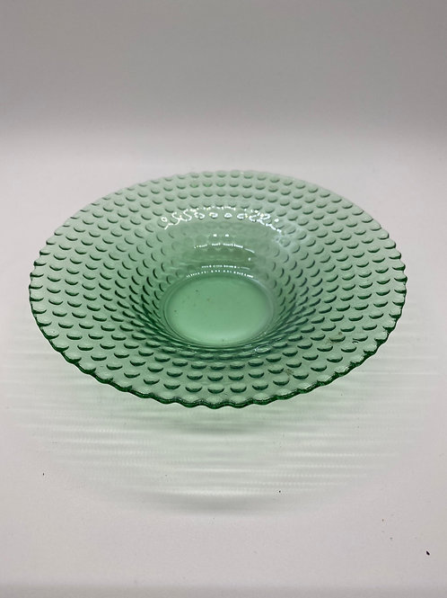Green Clear Glass small bowl