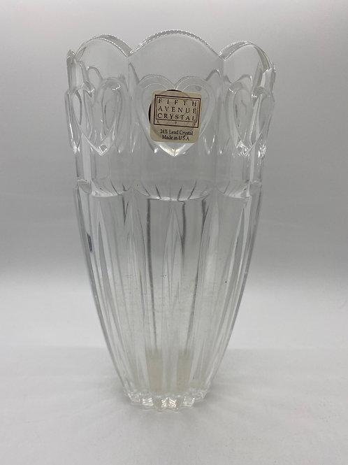 Crystal Vase. 24% Lead Crystal