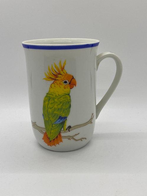 Vintage Toucan Porcelain Mug Set of 2