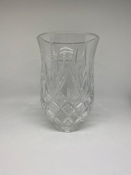 Lead Crystal 24% Pineapple Diamond Pattern Candle Holder
