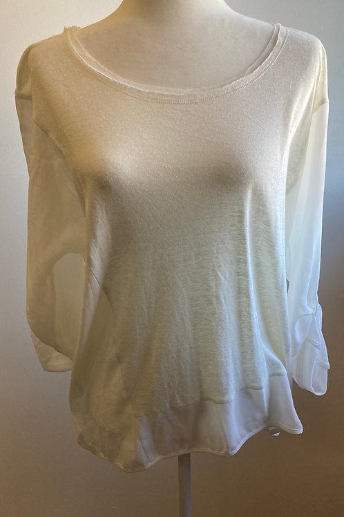 Milla 3/4 Sleeve White Top