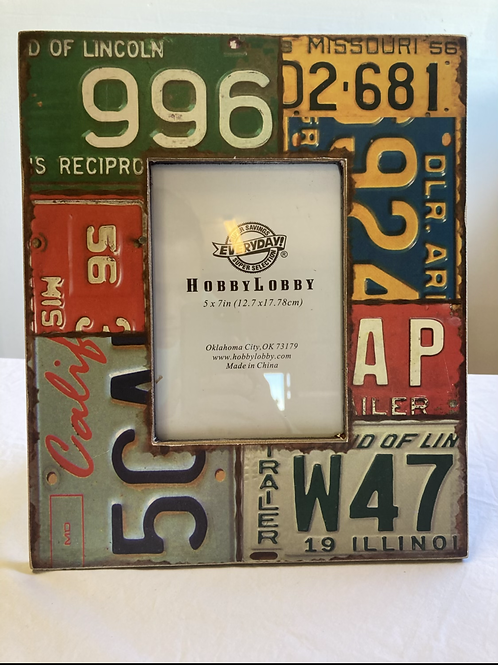 License Plate Picture Frame