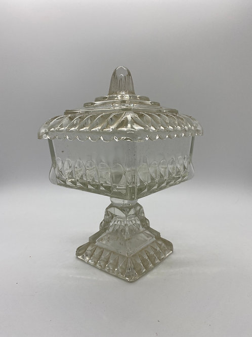 Antique lead crystal candy dish.