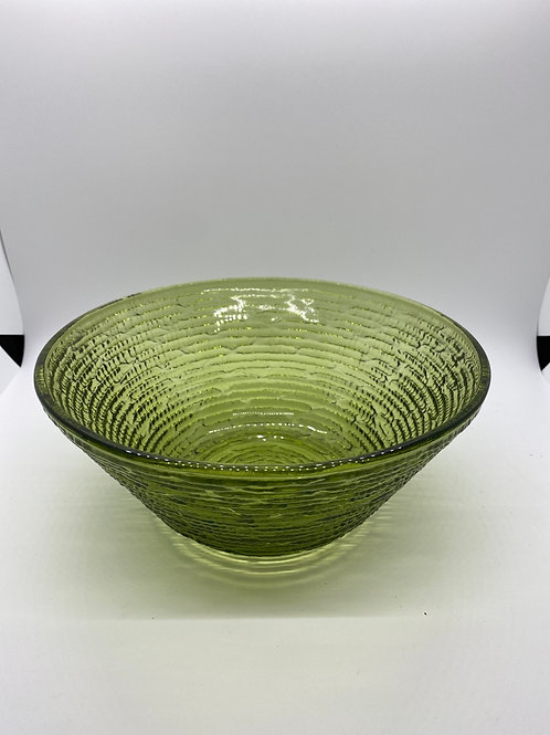 Vintage Anchor Hocking Avocado Green Glass Salad Bowl