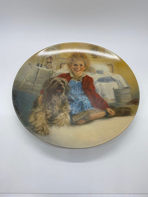 Edwin M Knowles Annie and Sandy Collector Plate