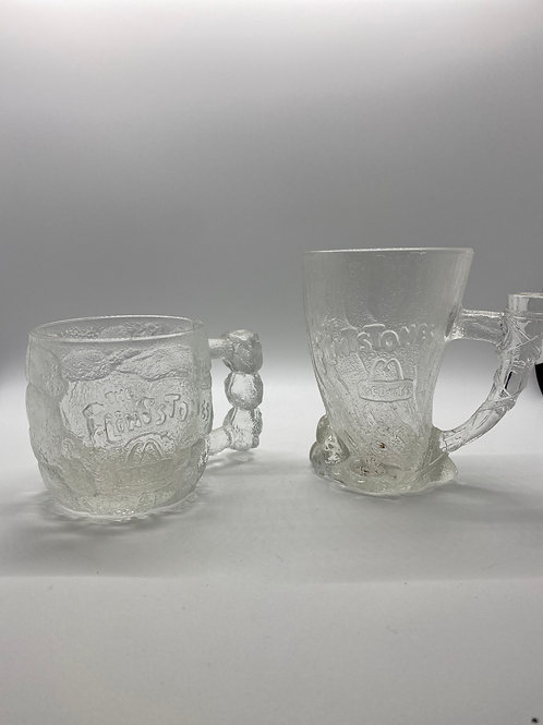 Flintstones Movie Promotion Glass Mugs