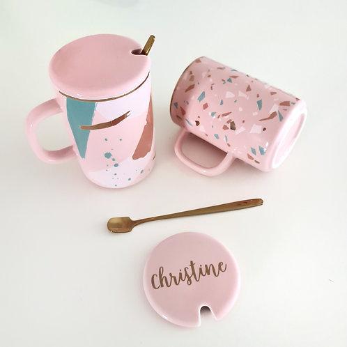 Pink Terrazzo/Splash Ceramic Mug