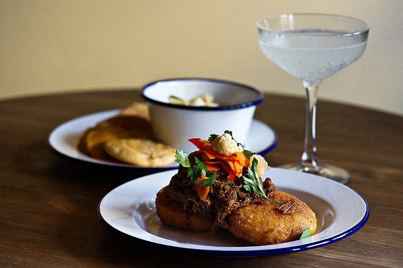 Daiquiri with appetizers, Manolito, New Orleans, LA