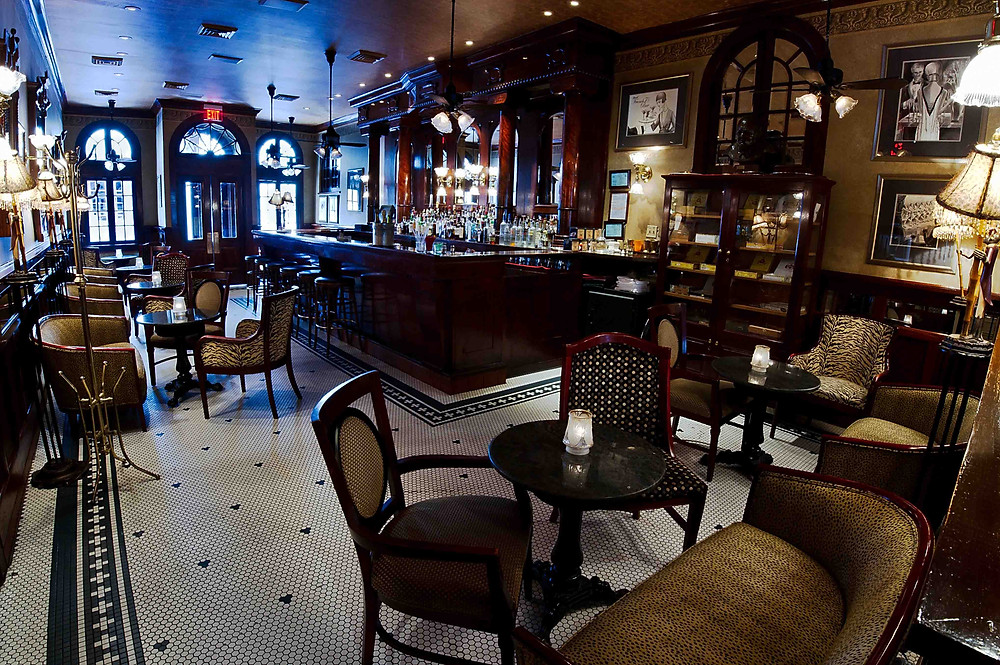 Interior of ornate, empty French 75 Bar, Arnaud's, New Orleans, LA