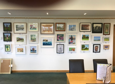 """""""Belleisle Golf Clubhouse Exhibition new paintings on Display!"""""""