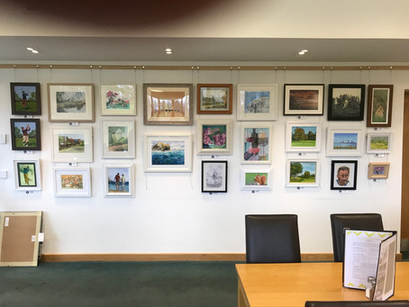 """Belleisle Golf Clubhouse Exhibition new paintings on Display!"""
