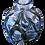 Thumbnail: Crystal clear glass ヴィンテージ 花器 フラワーベース