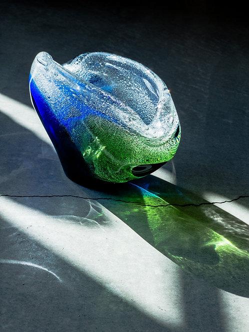 Vintage Bohemian Glass Bowl by Frantisek Spinar